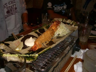 Extra big fried prawn at Uoichi Syouten in Matsudo