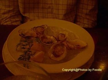Oyster half dozen at Rim Rock Cafe in Whistler