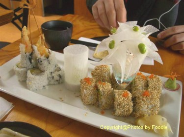 Spicy Cactus Roll and Dynamite Roll at Kishimoto Japanese Kitchen + Sushi Bar in Vancouver