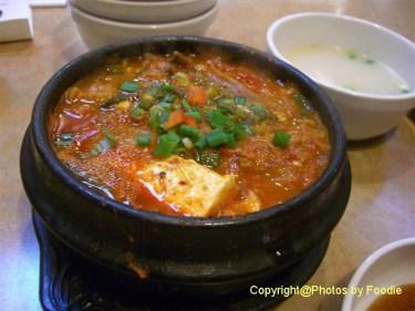 Kimchi Jjigae at Hanwoori Korean Restaurant in Burnaby