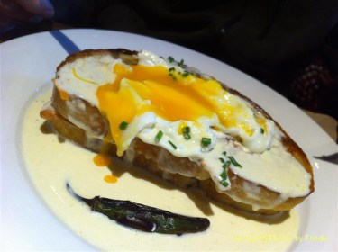 Croque Madame at Earls on Hornby in Vancouver